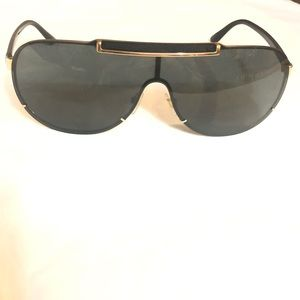 Versace black and gold aviators sunglasses
